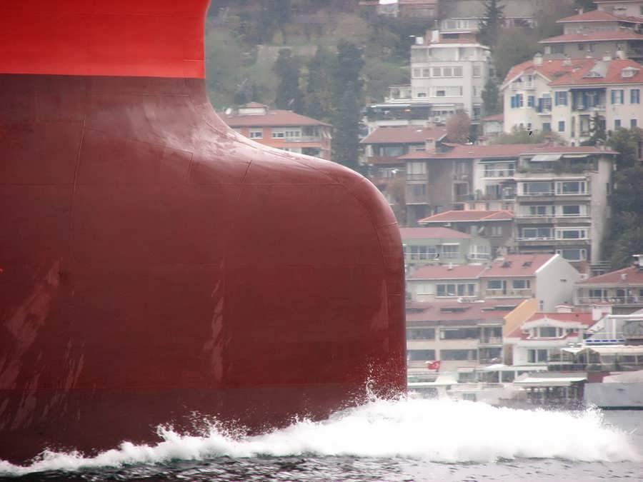 Bulbous bow of Aegean Dignity